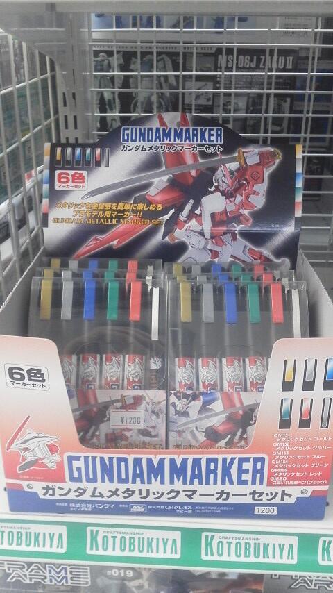 Gundam Marker Set Gundam Metallic Marker Set