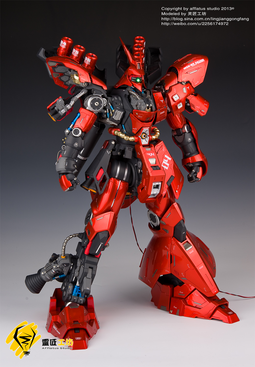 Neo Grade Garage Kit 1 60 Msn 04 Sazabi Full Leds