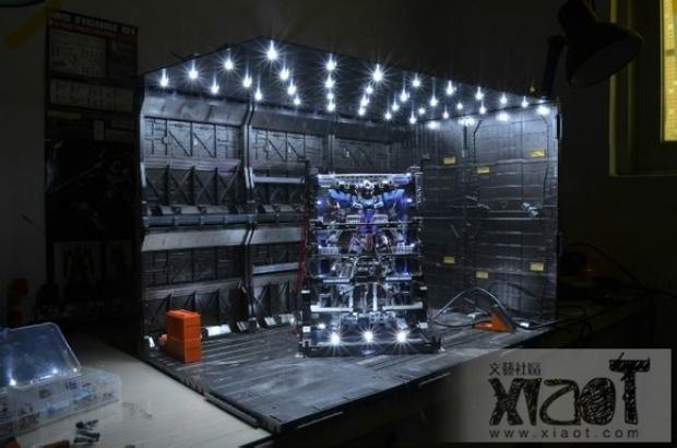 gunpla diorama gundam exia  maintenance hangar