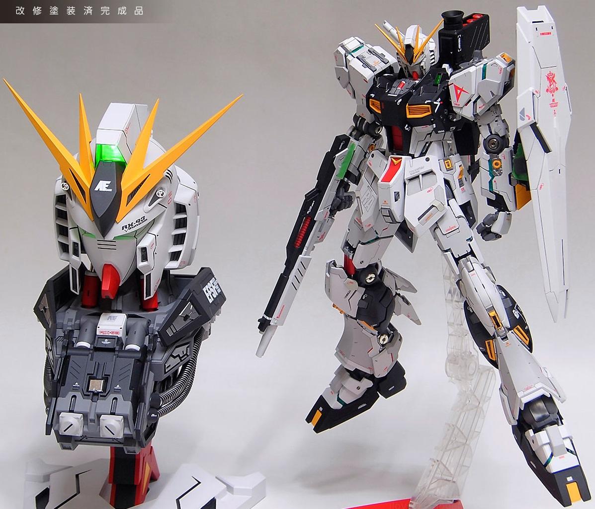 Amazing Duo Mg Nu Gundam Verka Led 1 35 Head Model Full Rx78 2 114215