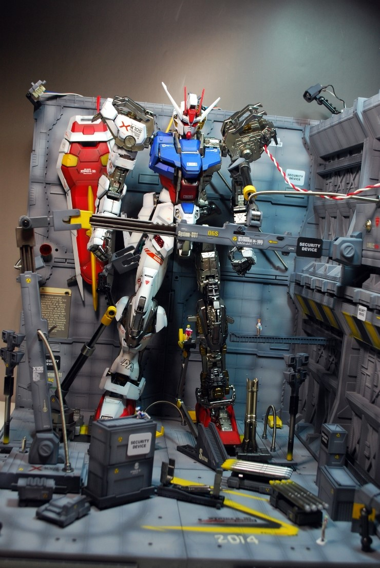 Pg 1 60 Strike Gundam Diorama W Leds Work By 1983dragon