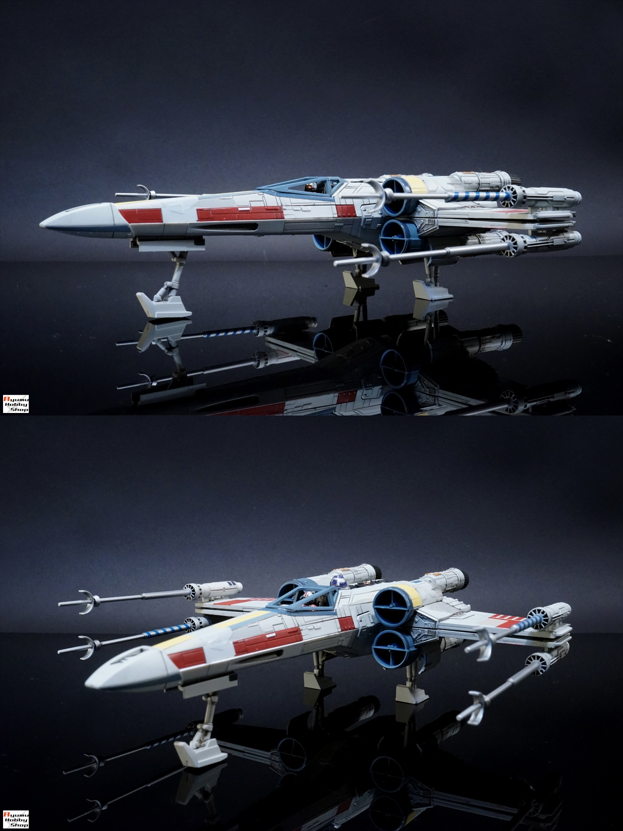 bandai x star wars 1 72 x wing starfighter painted build photoreview hi res images gunjap. Black Bedroom Furniture Sets. Home Design Ideas