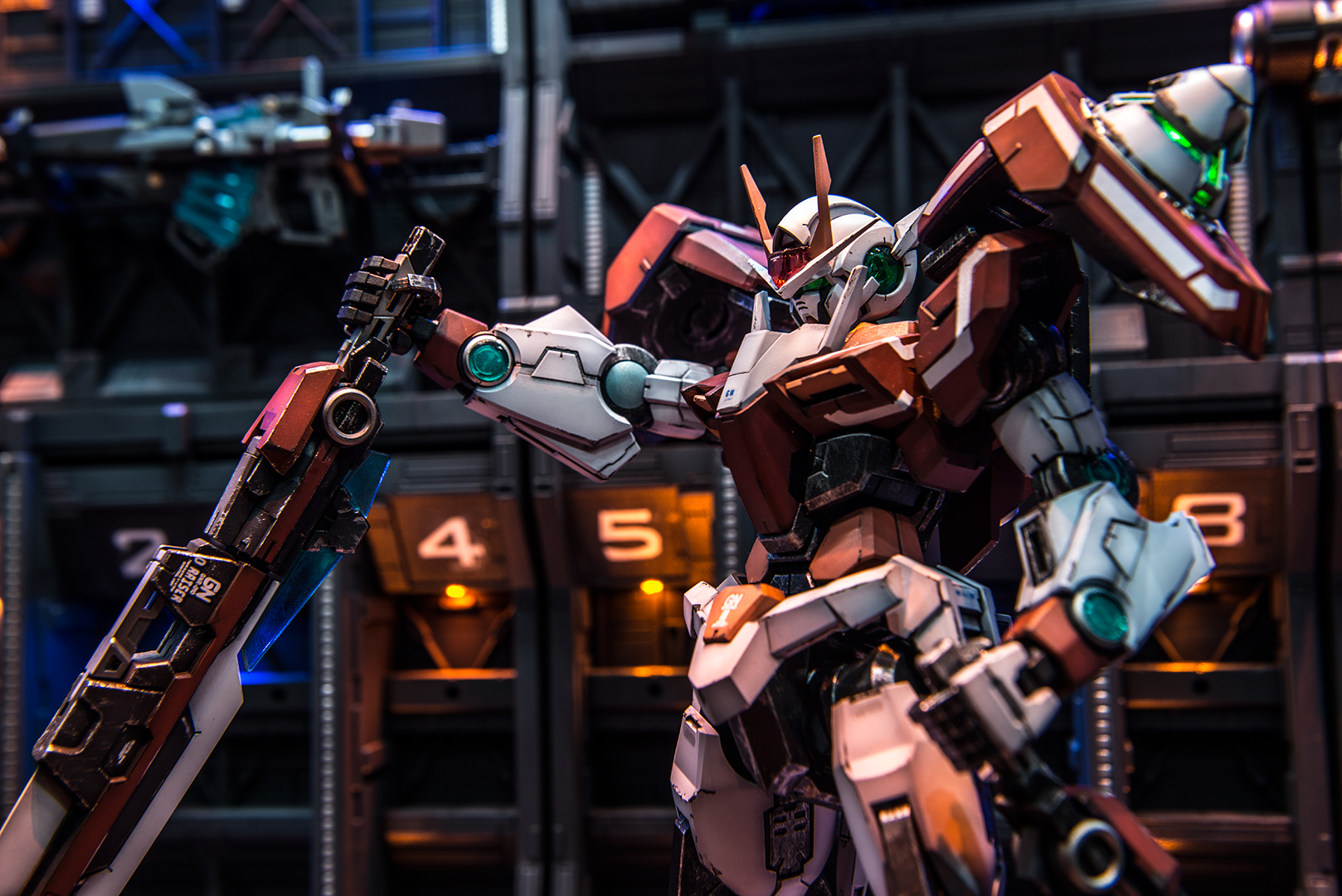 Amazing Diorama Mg 1 100 00 Gundam Seven Sword Work By Zteng Photoreview Full Size Images