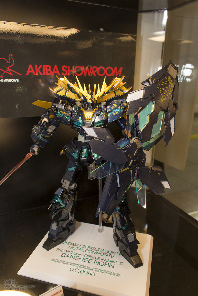 GFF METAL COMPOSITE RX-0[N] Unicorn Gundam 02 Banshee Norn (覺醒仕様) on Display @ Tamashii Nations Akiba Showroom. Hi Res Images, Info Release