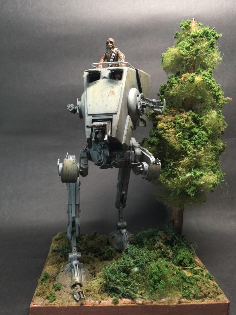 DIORAMA] Bandai x Star Wars 1/48 AT-ST: Photoreview Full Size Images ...
