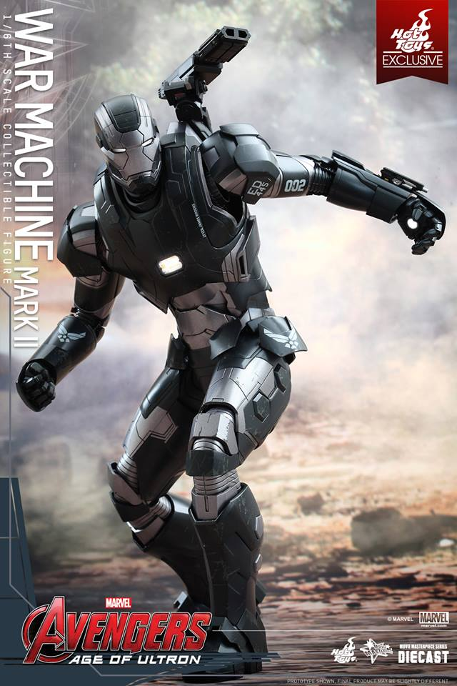 [Avengers Age Of Ultron] Hot Toys 1/6 WAR MACHINE Mark II: No.11 Big Size Official Images, FULL Info