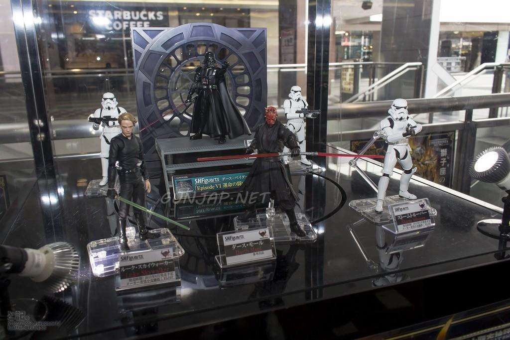 S.H.Figuarts x Star Wars: Darth Vader, Stormtrooper, Darth Maul, Luke Skywalker. Tamashii Showroom PHOTOREPORT No.33 Hi Res Images