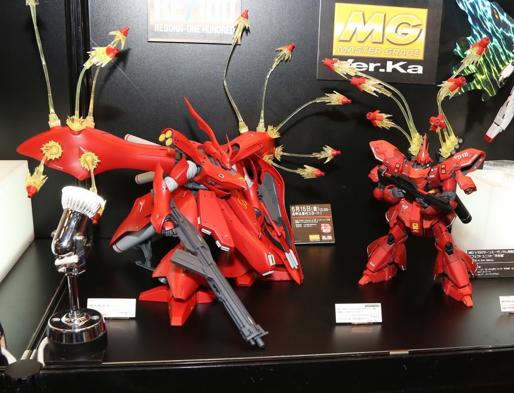 P-Bandai Extension Funnel Effect Set for MG Sazabi Ver.Ka and RE/100 Nightingale: Photoreport Hi Res Images @ Shizuoka Hobby Show 2015, Info