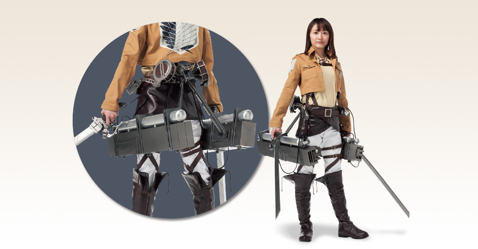 Attack on Titan 3-D maneuver gear: On Sale. Official Images, Info, LINK