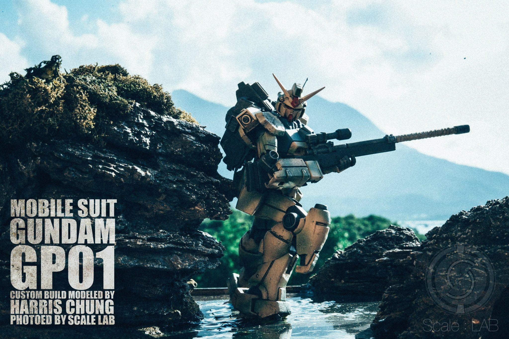 DIORAMA Gundam GP01 Custom Build by Harris Chung. Amazing Photo Editing by Scale LAB! PHOTO REVIEW