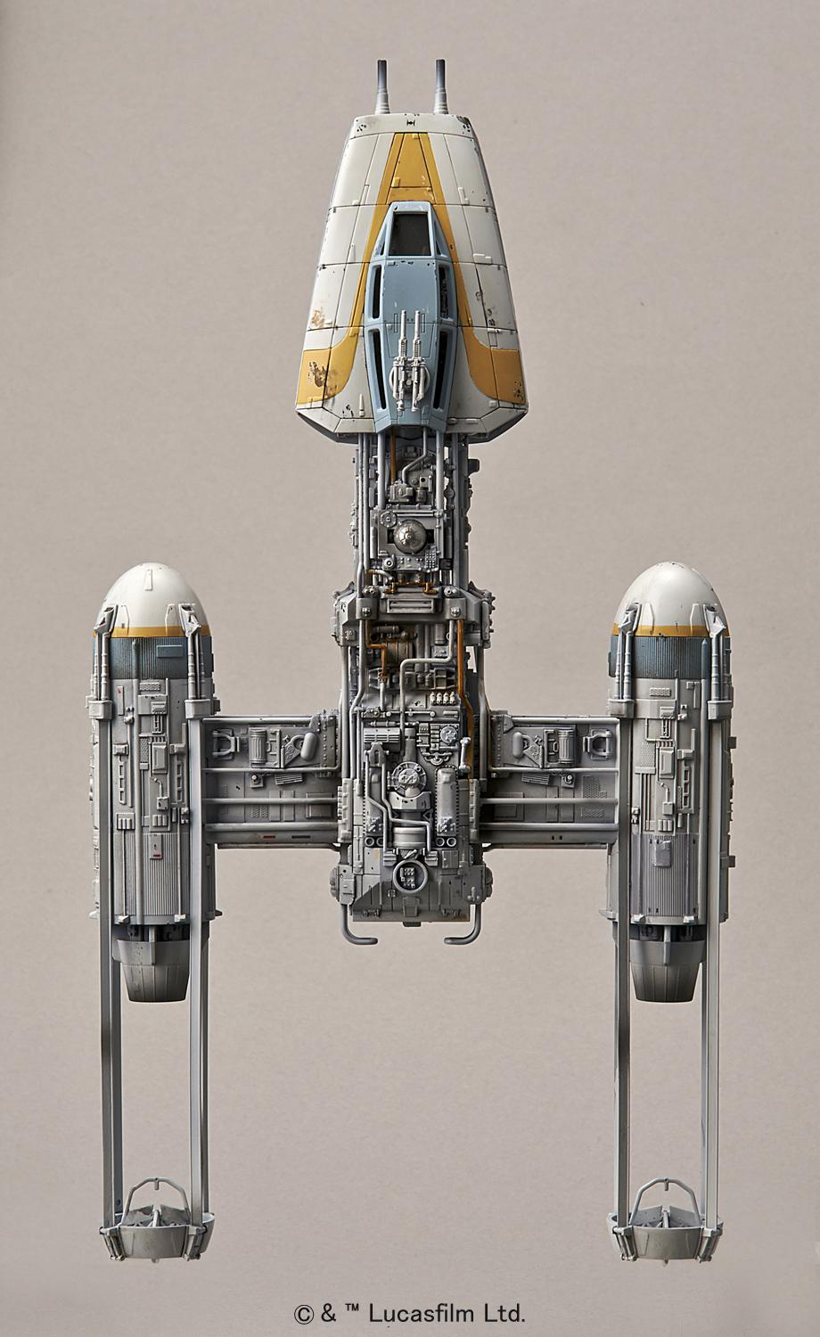 Bandai x Star Wars 1/72 Y-Wing Starfighter: UPDATE Many