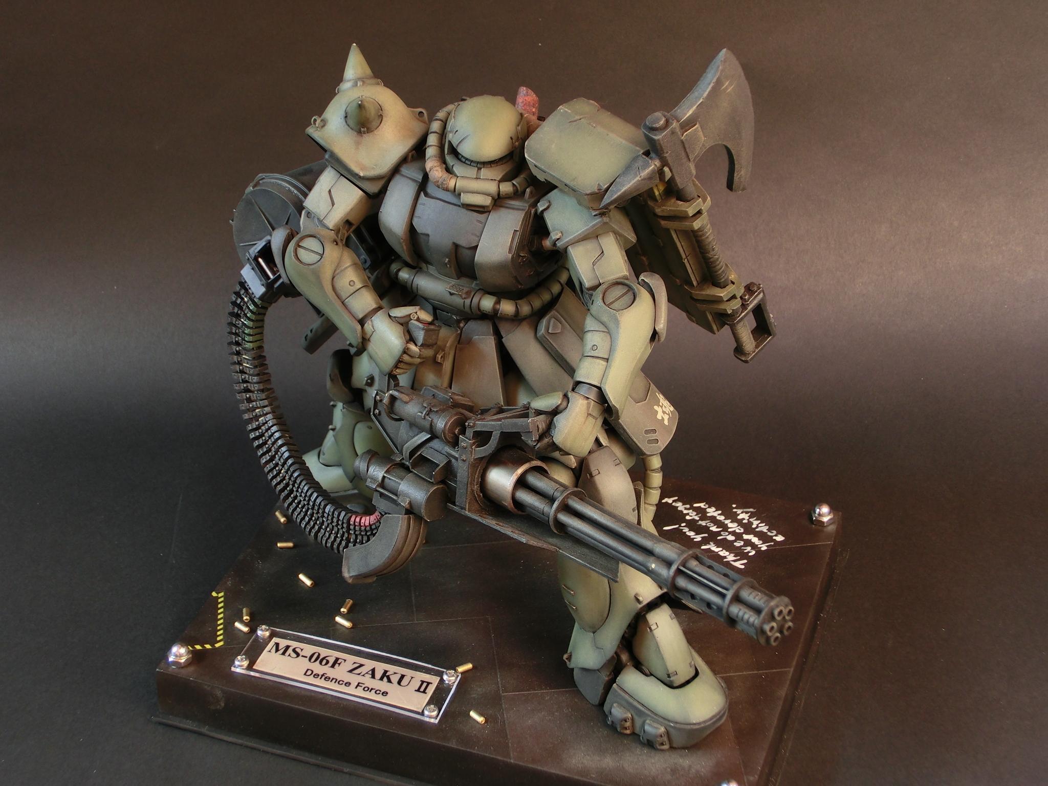 ガンプラ王 Mg 1 100 Ms 06f Zaku Ii Defence Force Custom