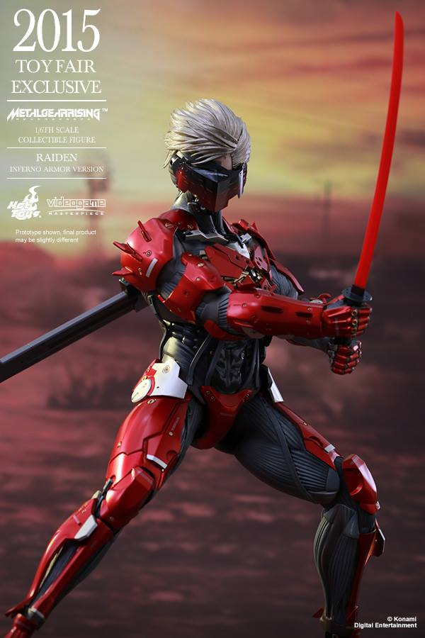 HOT TOYS 2015 Toy Fair Exclusive: [Metal Gear Rising Revengeance] 1/6 RAIDEN Inferno Armor Version. Official PHOTO REVIEW, Full Info