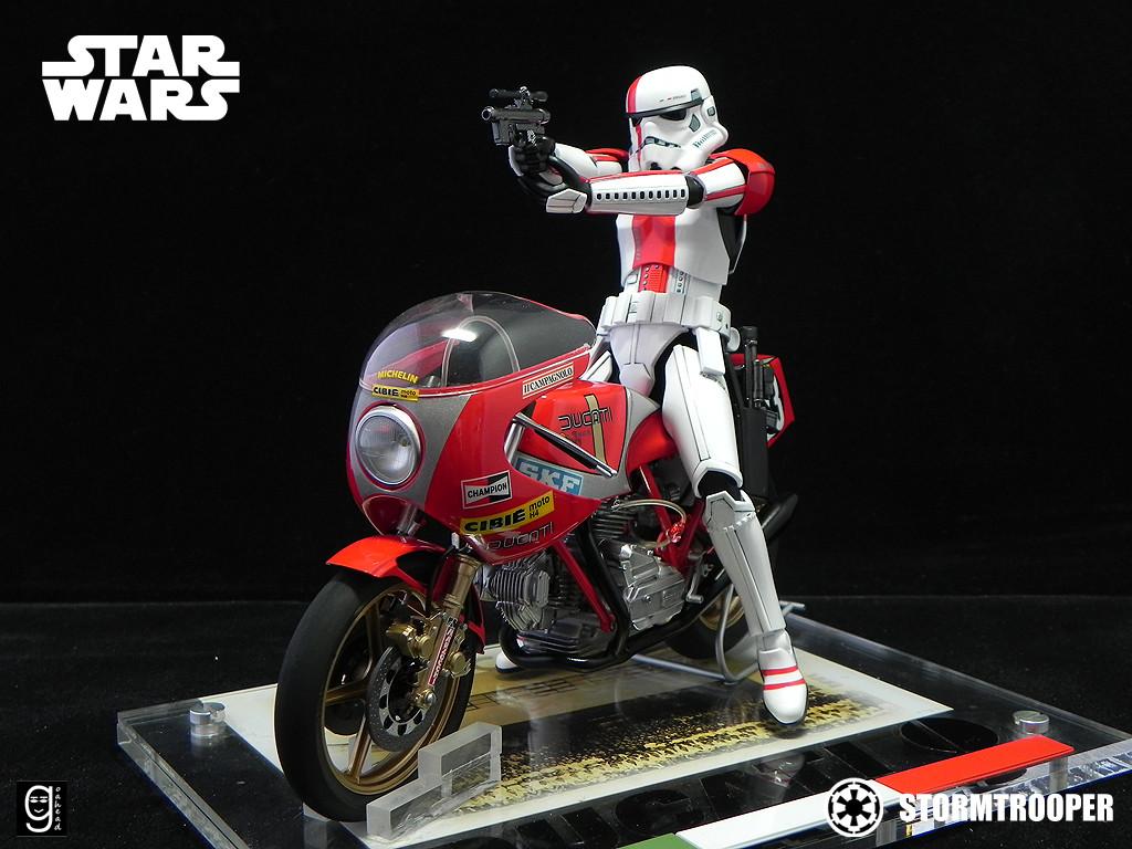 Bandai X Star Wars 1 12 Stormtrooper Ducati Rider
