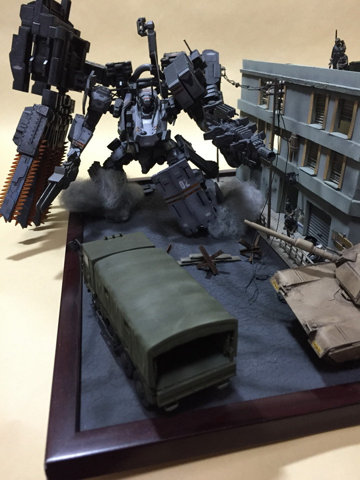 Armored Core V Diorama: THE DARK RAVEN. Work by miura_No.81 Photo Review, Info
