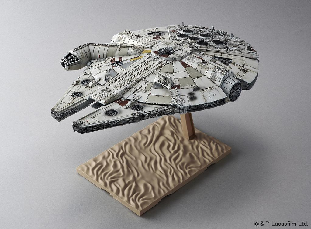 Bandai x Star Wars The Force Awakens: 1/144 MILLENNIUM FALCON. Added NEW Big Size Official Images, Info Release