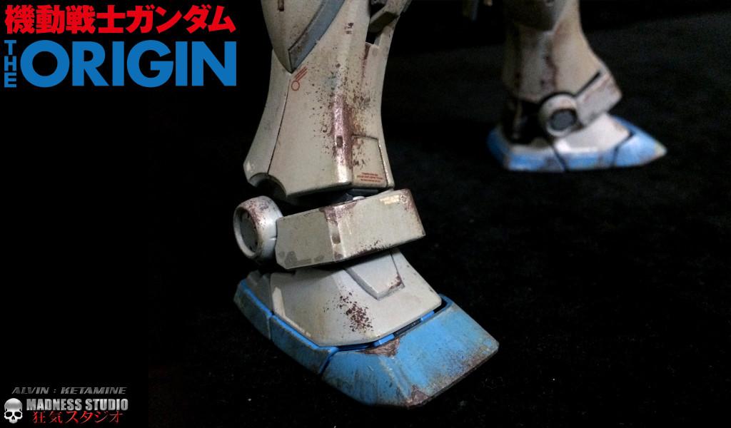 """MG 1/100 RX-78-2 Gundam """"The Origin"""" Custom Paint, Heavy weathered"""
