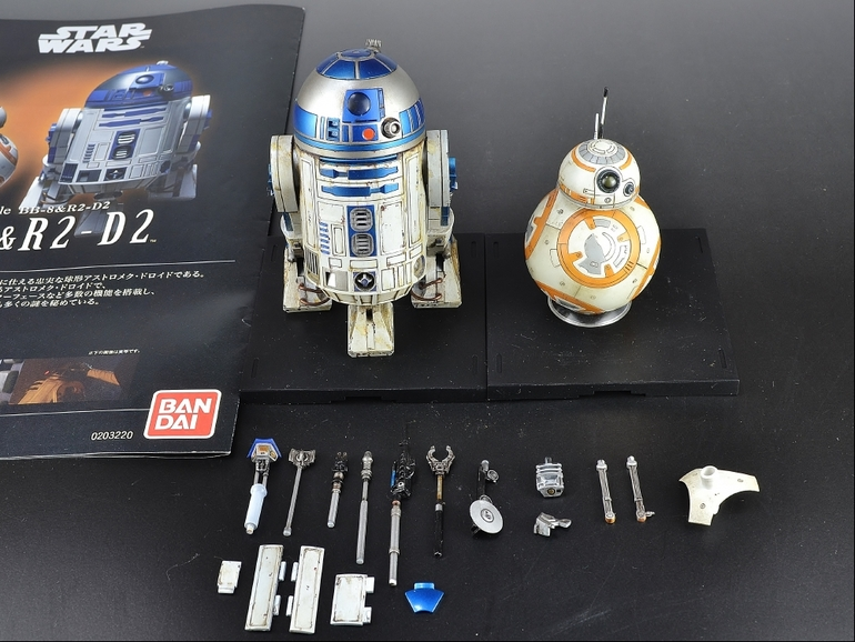 bb-8 r2-d2 weathered