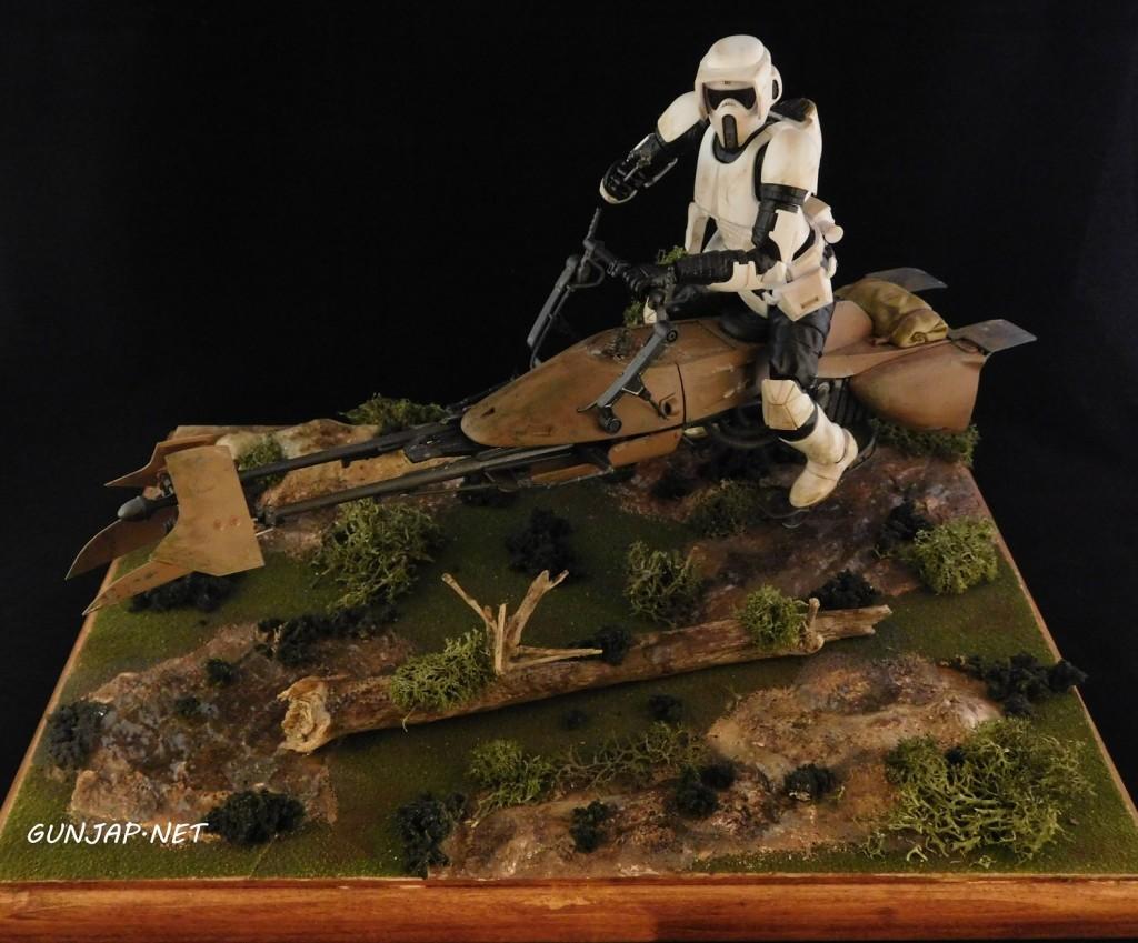 Bandai x Star Wars DIORAMA 1/12 Scout Trooper and Speeder Bike