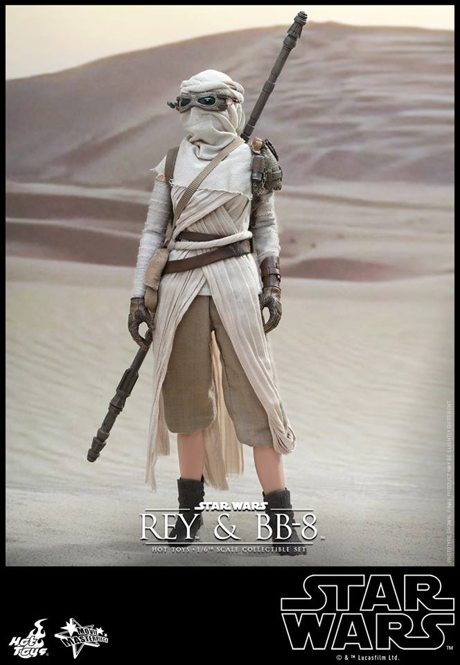 Hot Toys x Star Wars The Force Awakens: 1/6 REY and BB-8