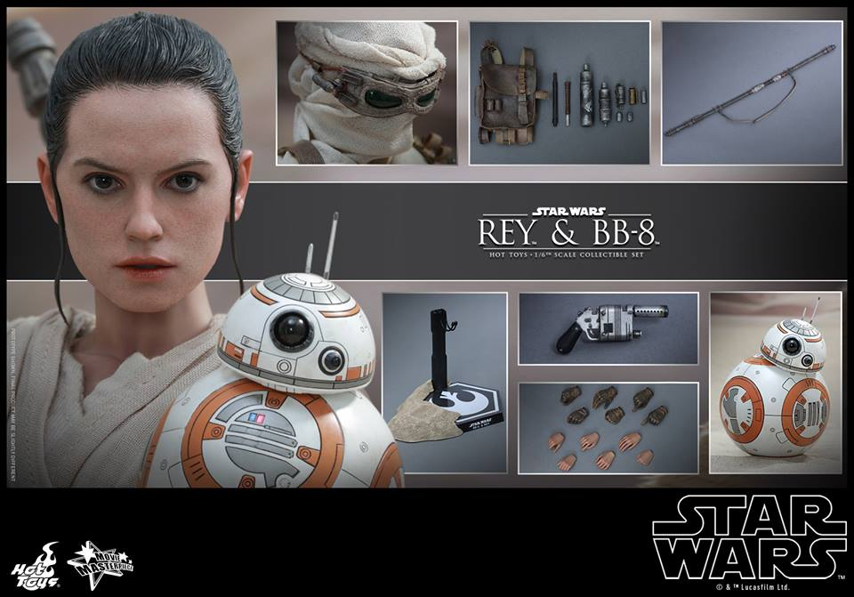 Hot Toys x Star Wars The Force Awakens: 1/6 REY and BB-8 Collectible Set. No.25 Big Size Official Images, FULL Eng INFO