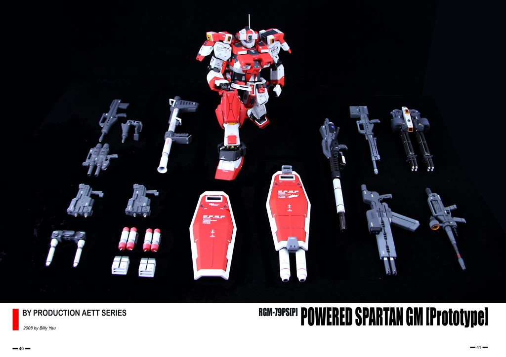 billy1976's Custom MG 1/100 RGM-79PS[P] Powered Spartan GM [Prototype] (Guide + CG + Box Art): REVIEW + WIP details LINK