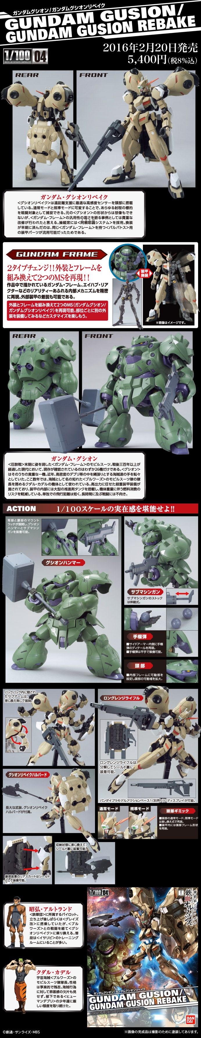[UPDATE SAMPLE REVIEW] 1/100 GUNDAM GUSION / GUNDAM GUSION REBAKE: A LOT OF IMAGES, Info Release