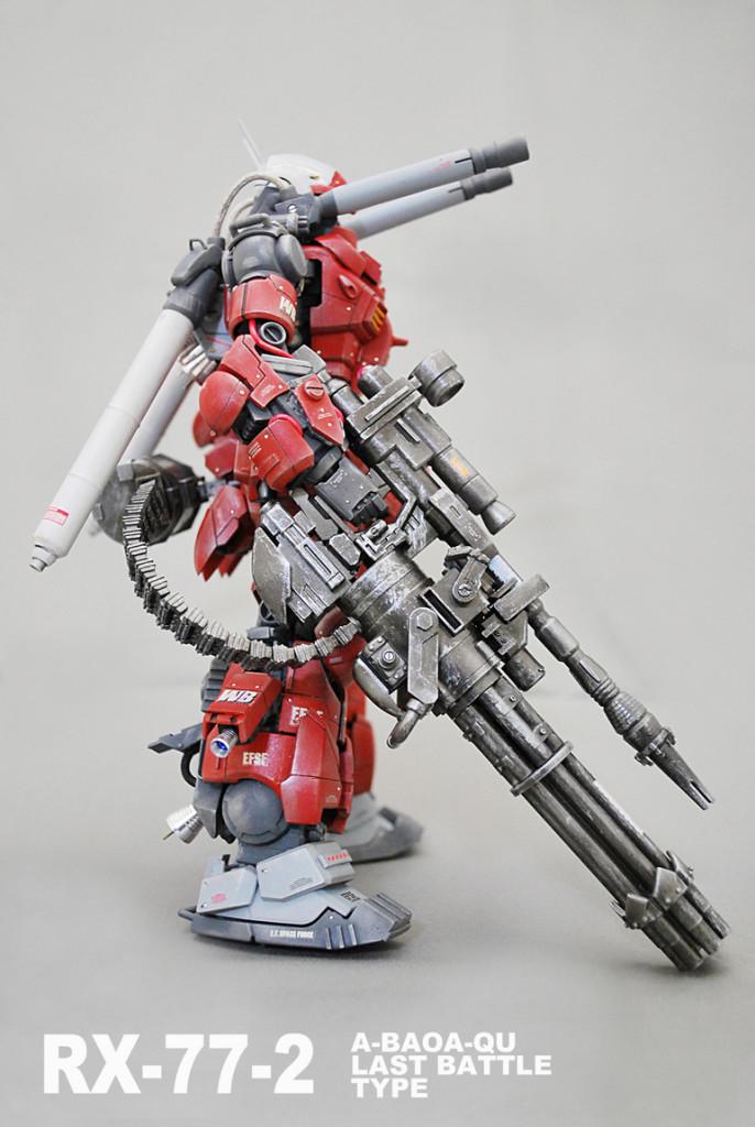 [GBWC2015] shinn's MG 1/100 RX-77-2 GUNCANNON (A BAOA QU Last Battle Type): Images, Info