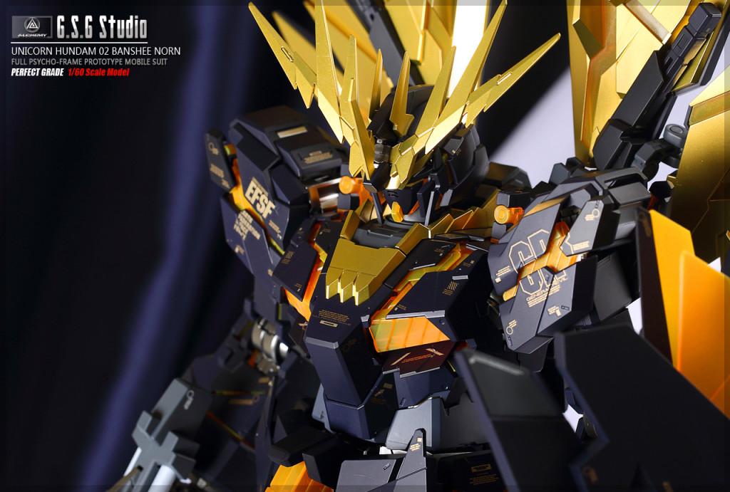 G.S.G. Studio's PG 1/60 Unicorn Gundam 02 Banshee Norn: Big Size Images, Info
