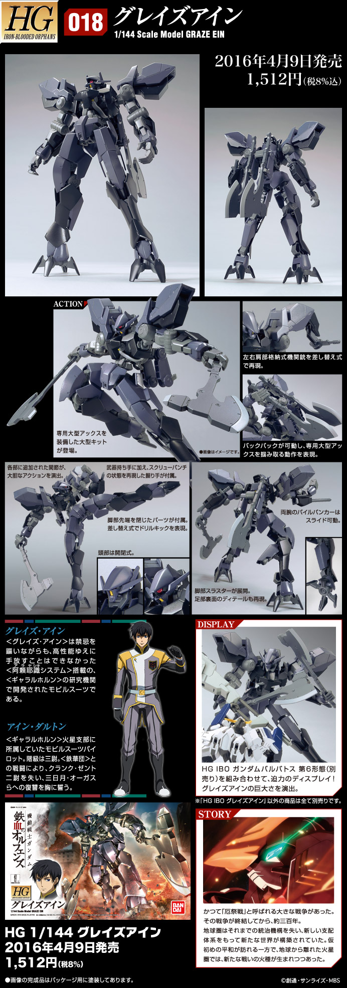 [2nd UPDATE] HGIBO 1/144 GRAZE EIN: NEW Official Images, Info Release