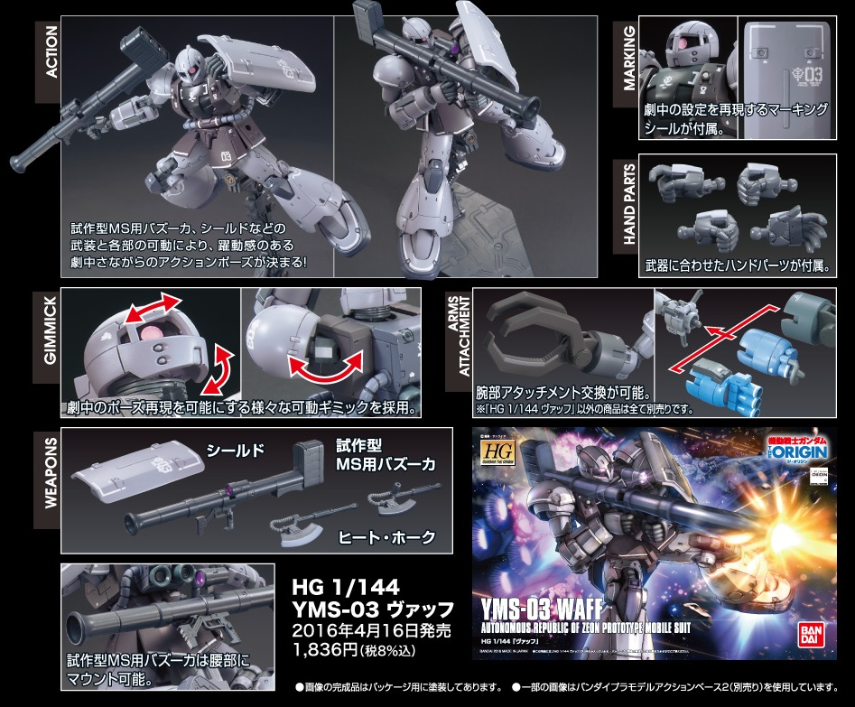 HG GTO 1/144 YMS-03 WAFF: UPDATE. Added Many Official Images, Info Release