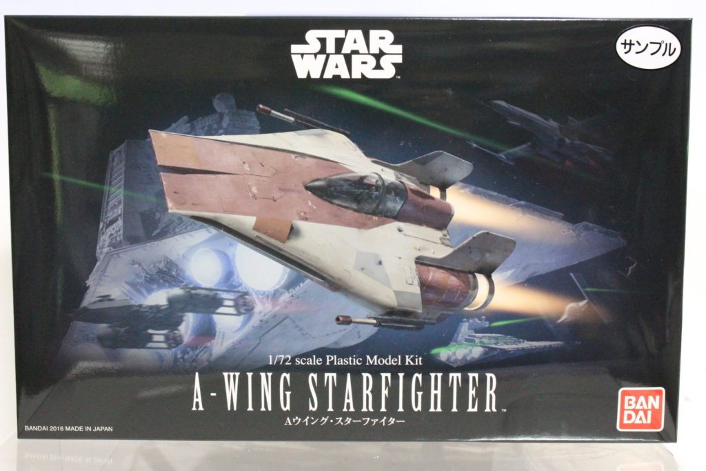 Bandai x Star Wars 1/72 A-WING STARFIGHTER: BOX OPEN REVIEW