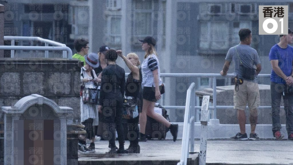 Scarlett Johansson in Hong Kong filming for Ghost in the Shell
