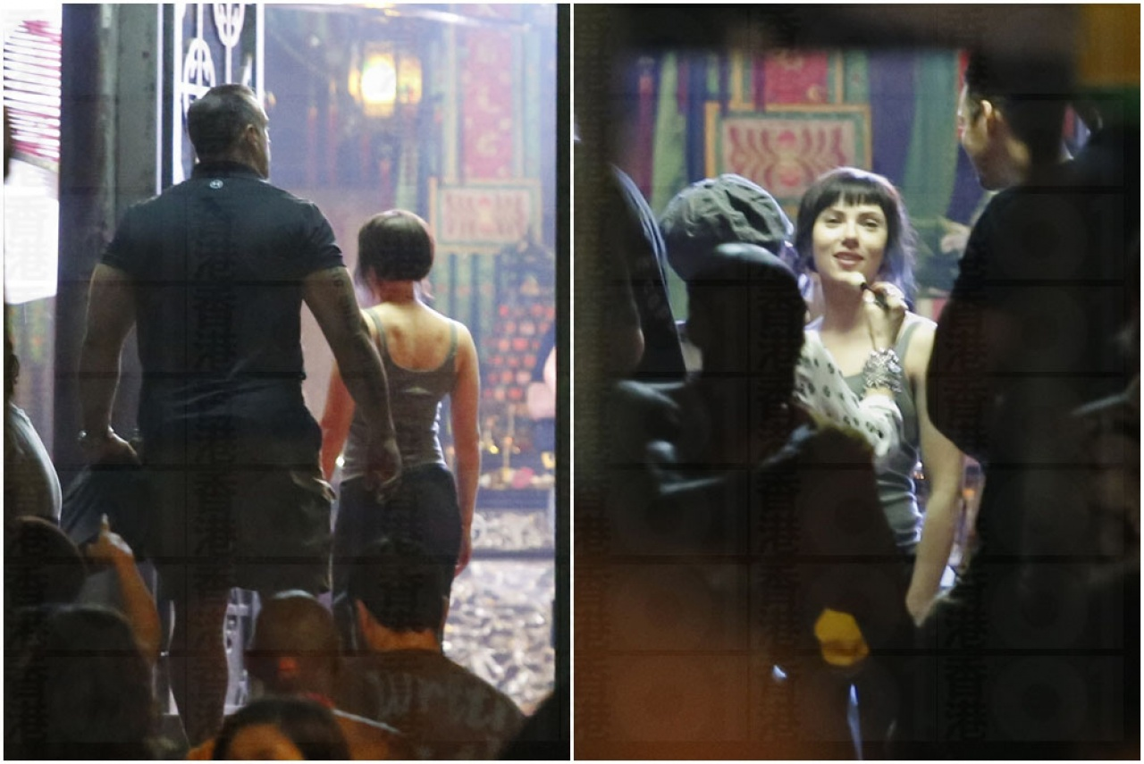 Hk01 S Update Images Scarlett Johansson In Hong Kong Filming For Ghost In The Shell No 14 New Behind The Scenes Images Gunjap