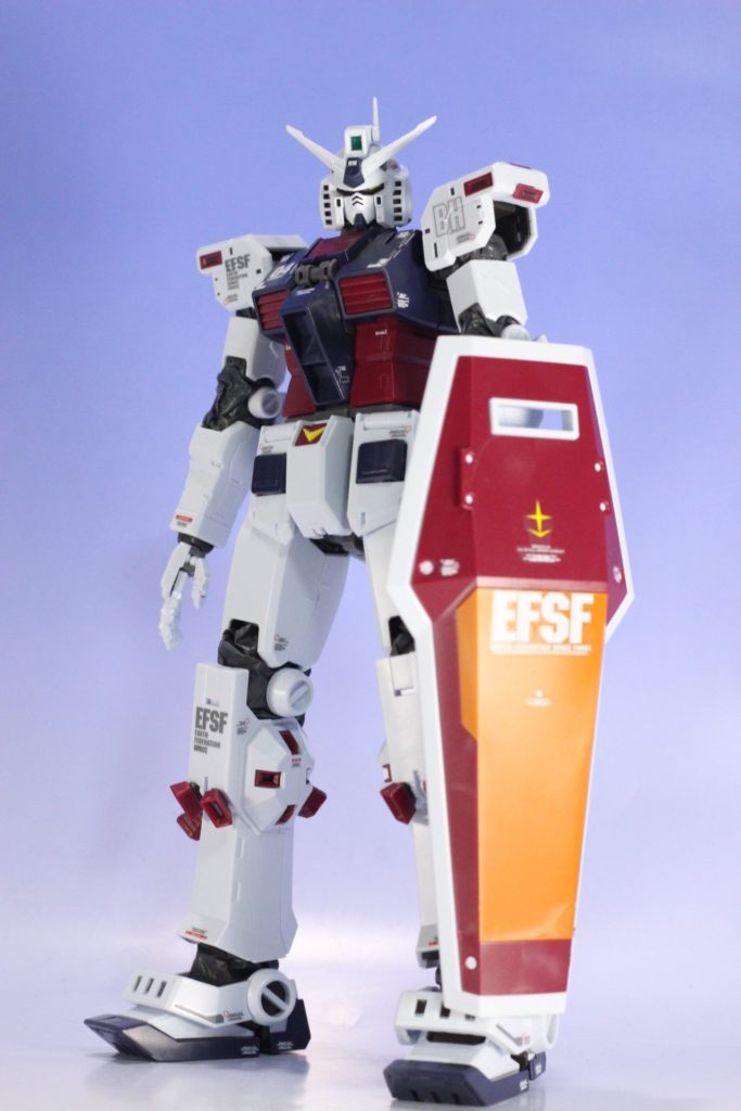 MG 1/100 FULLARMOR GUNDAM Ver.Ka (THUNDERBOLT) WATER SLIDES DECALS PLACED
