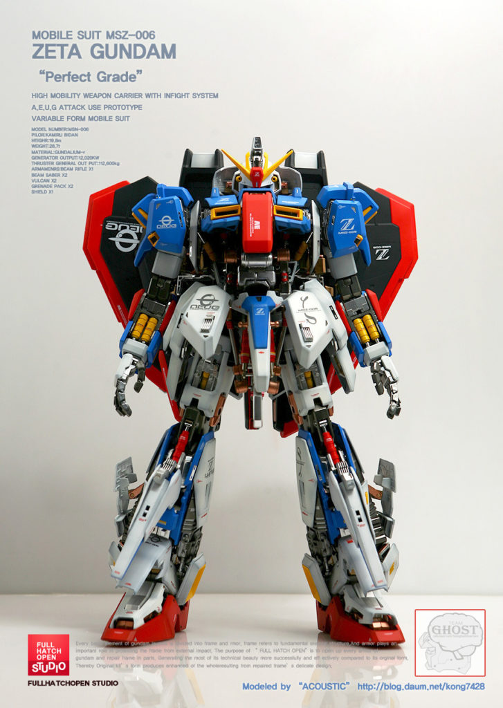PG 1/60 MSZ-006 ZETA GUNDAM FULL HATCH OPEN