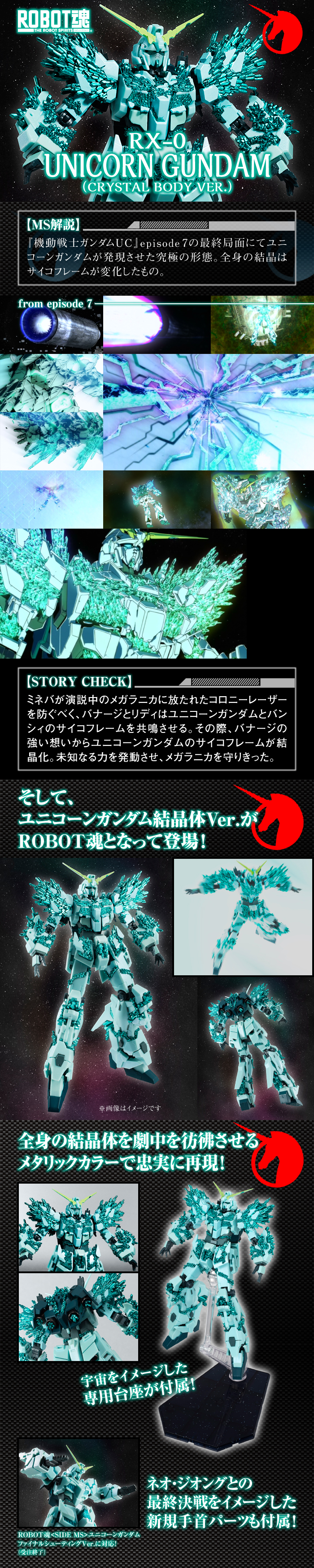 ROBOT魂 RX-0 UNICORN GUNDAM (CRYSTAL BODY VER.)