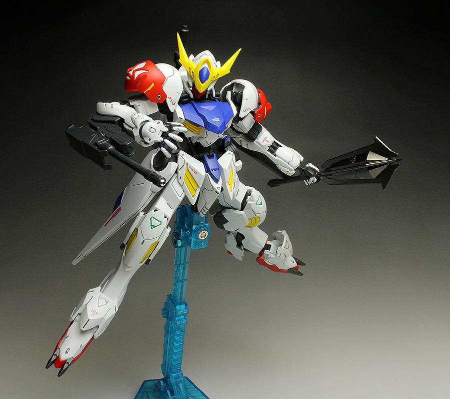 HGIBO 1/144 GUNDAM BARBATOS LUPUS + MS OPTION SET 5 and TEKKADAN MOBILE WORKER