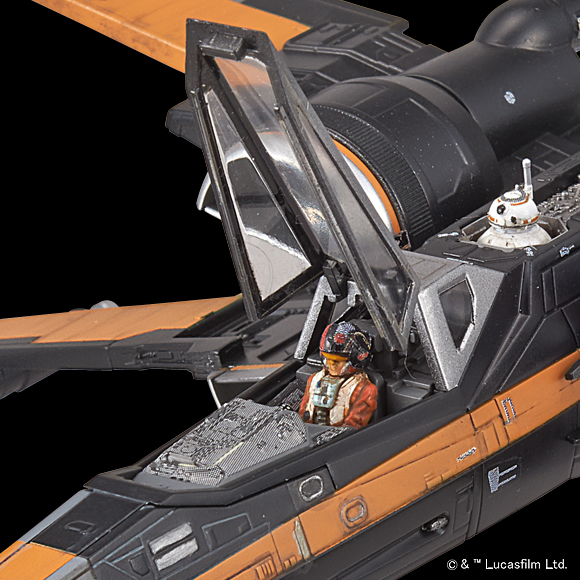 Star Wars The Force Awakens 1/72 POE's X-WING FIGHTER