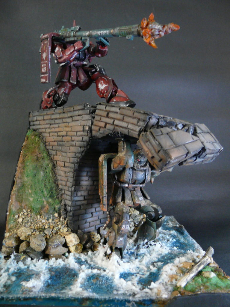 """FG 1/144 Diorama """"Brother's Shot"""" Work by Pato Araya from Chile. Full Review, Info"""