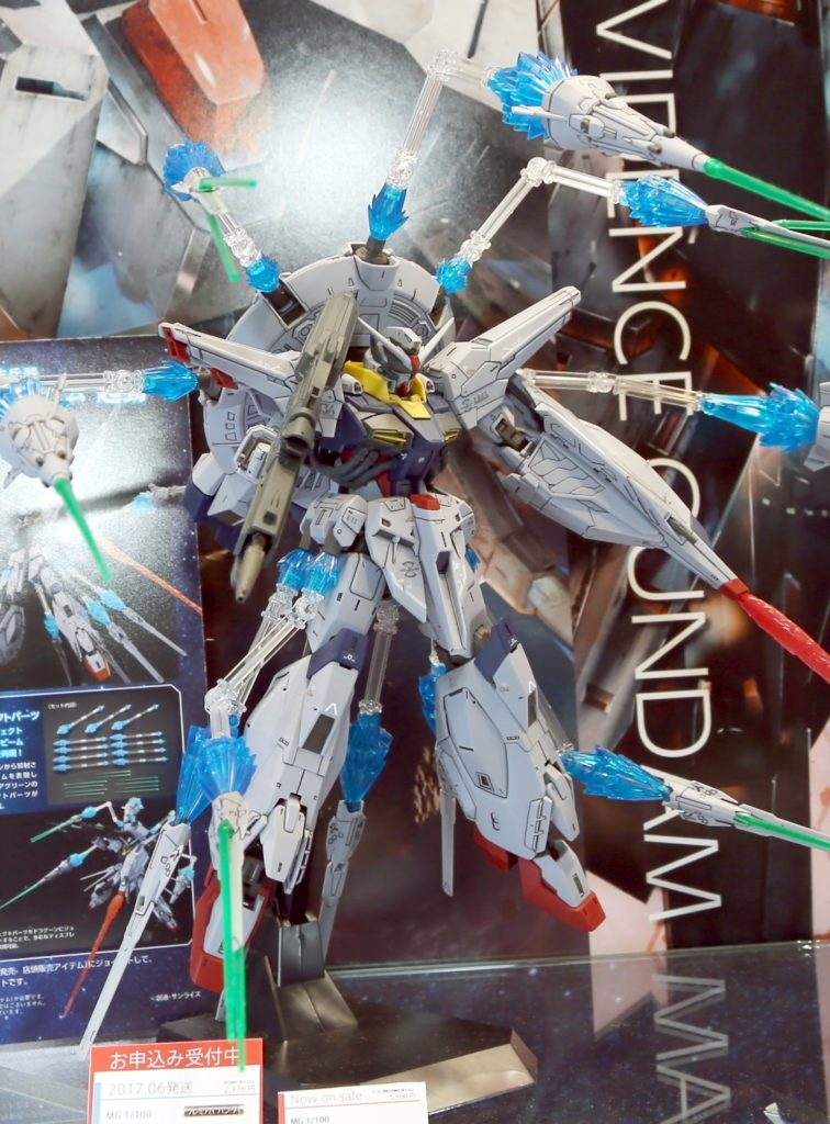 MG PROVIDENCE GUNDAM with DRAGOON Display Effect @ Shizuoka Hobby Show 2017. Big Size Images, Info