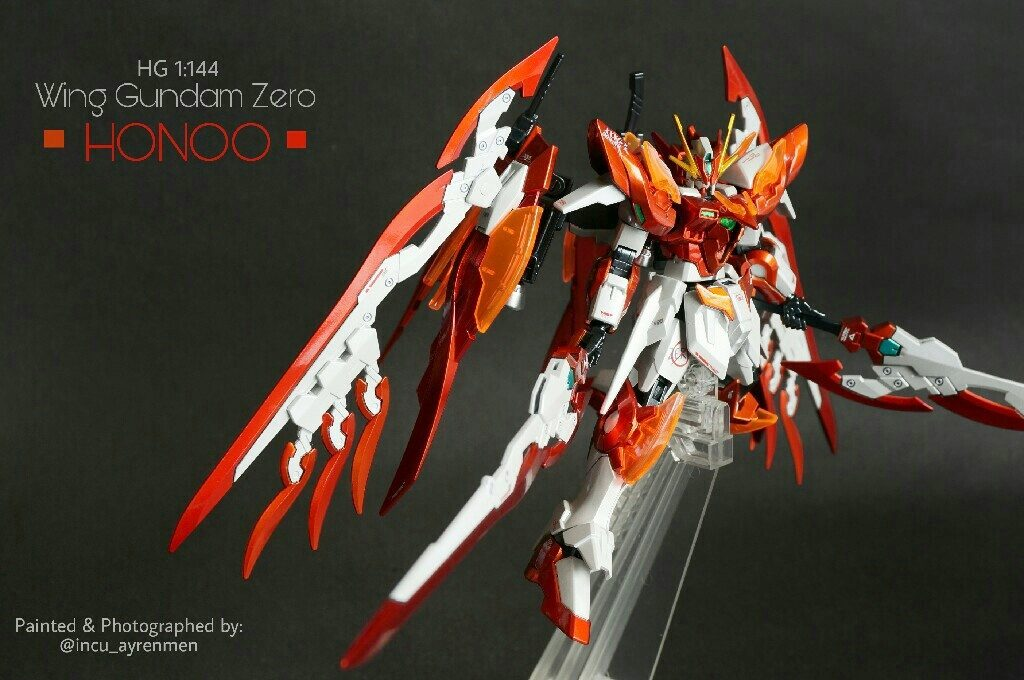incu_ayrenmen's HG 1/144 Wing Gundam Zero Honoo + Honoo Custom Kit REVIEW