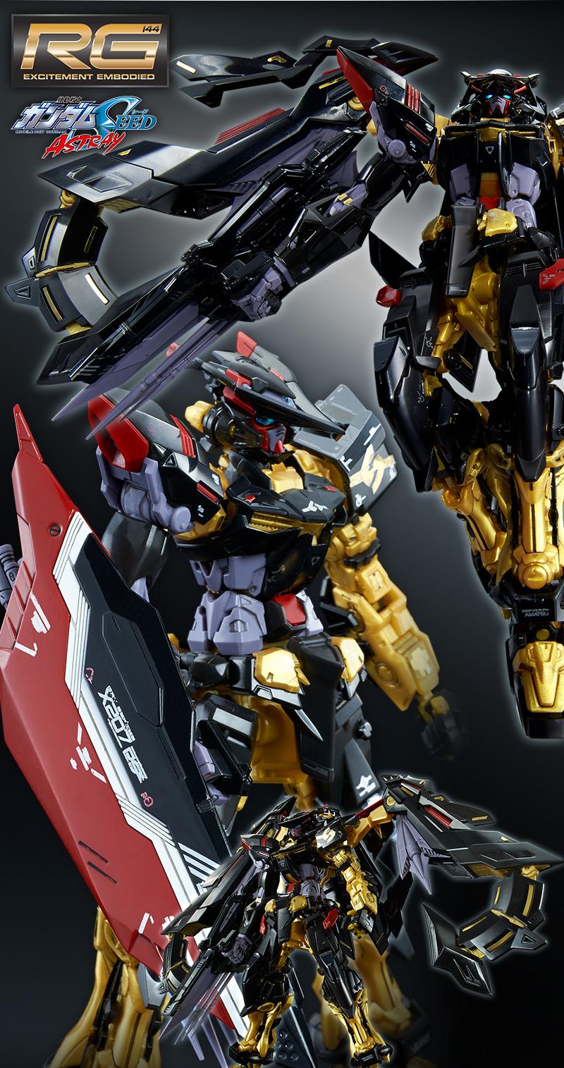 P-Bandai RG 1/144 GUNDAM ASTRAY GOLD FRAME AMATSU RONDO GINA ...