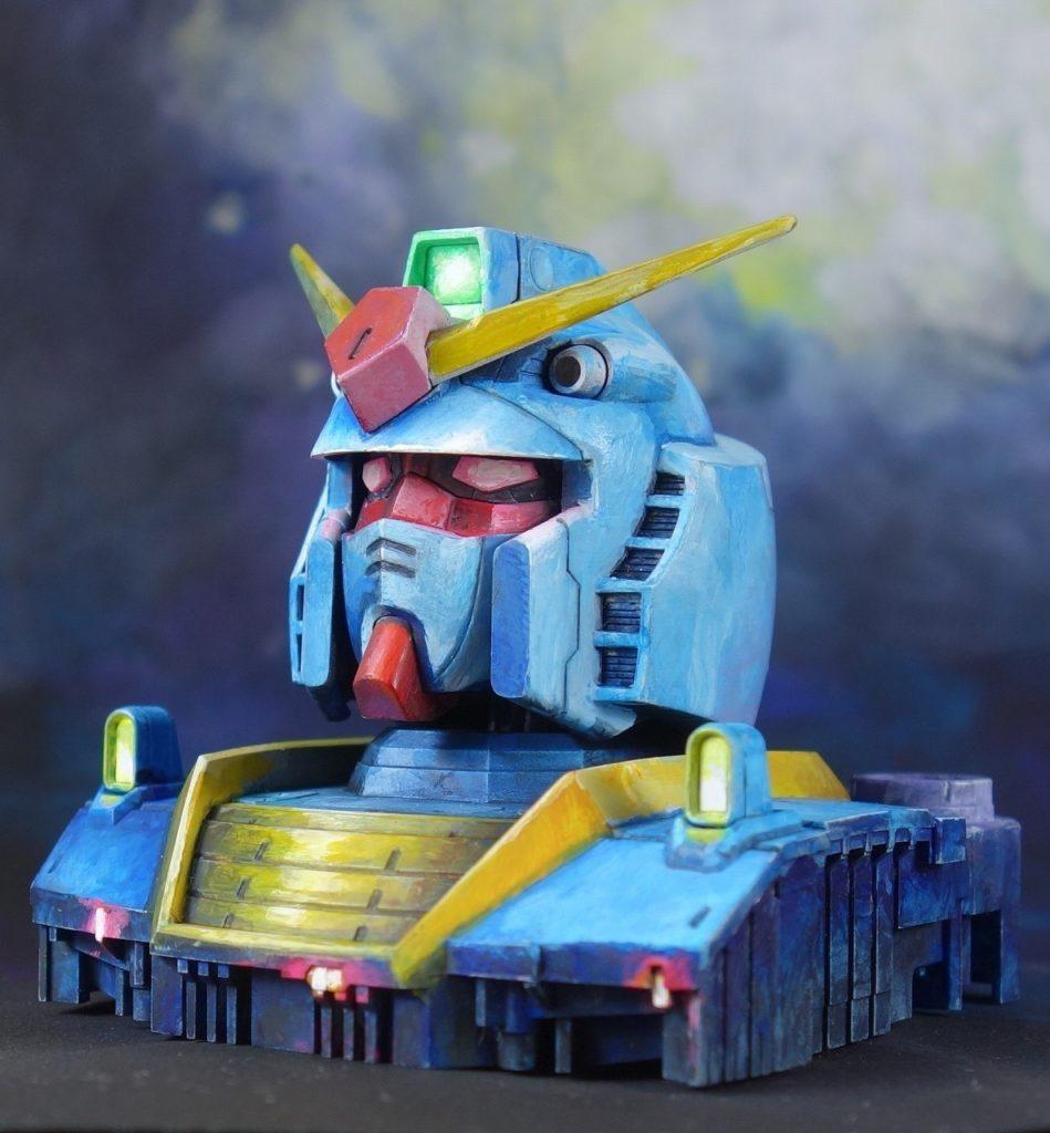 @館長's 1/48 Gundam THE ORIGIN Head Display painted as Yoshikazu Yasuhiko's illustration