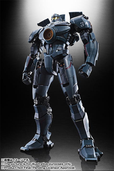 2,500 tons of awesome! The long-awaited Pacific Rim's leading machine, GIPSY DANGER, appears as a SOUL OF CHOGOKIN!