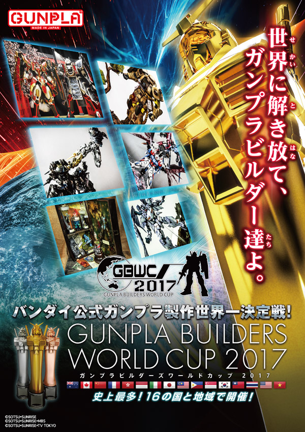 [GBWC 2017] GUNPLA BUILDERS WORLD CUP 2017: Select Your Countries
