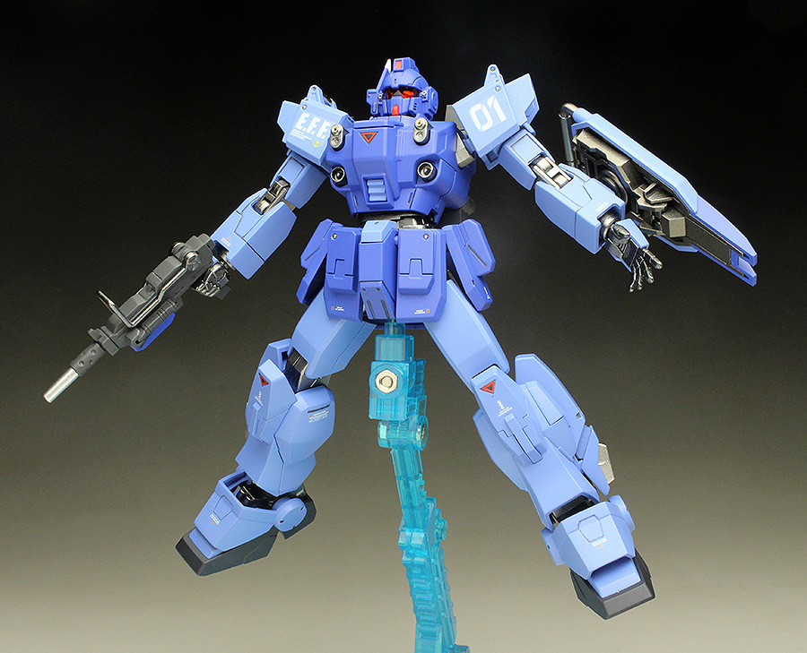 [WORK REVIEW] HGUC 1/144 BLUE DESTINY UNIT 1 EXAM painted build, images