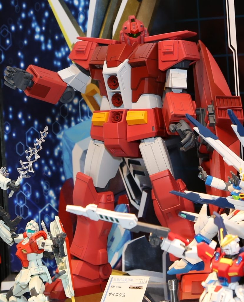 P-Bandai HGBF 1/144 PSYCHO GM on display @ C3AFA TOKYO 2017. Images, Info Release