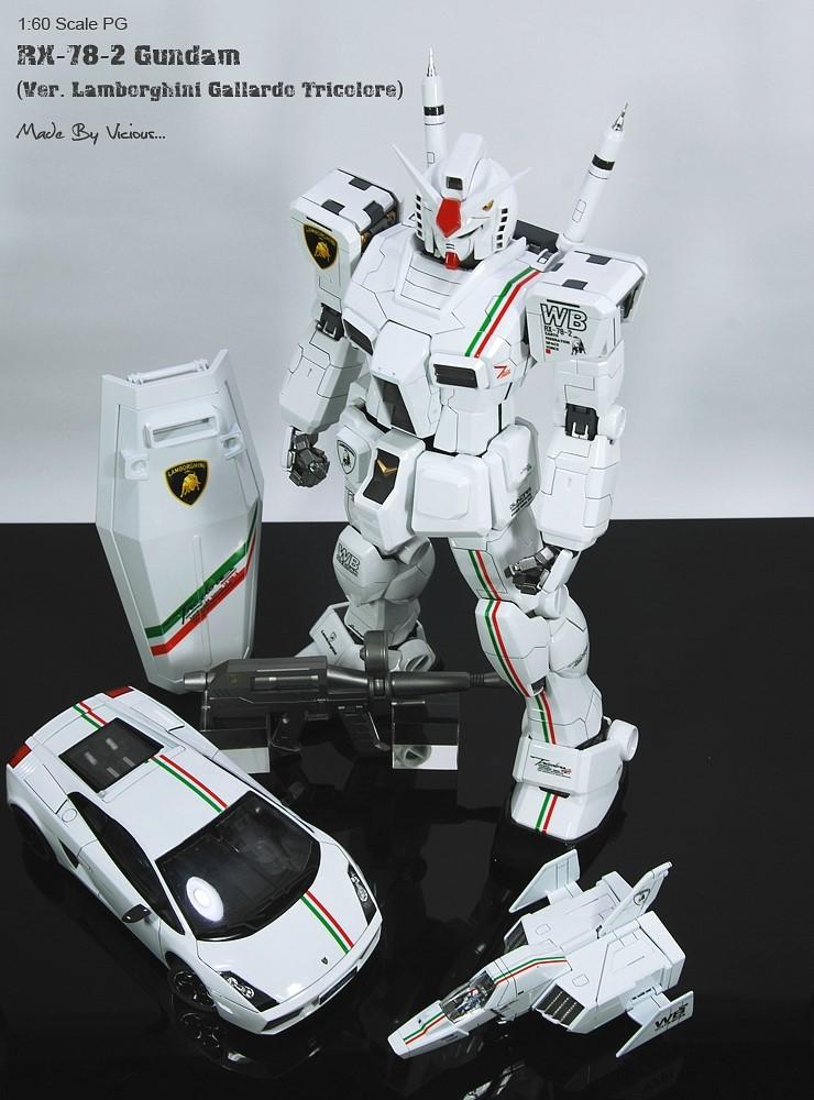 vicious's PG 1/60 RX-78-2 Gundam Ver. Lamborghini Gallardo Tricolore