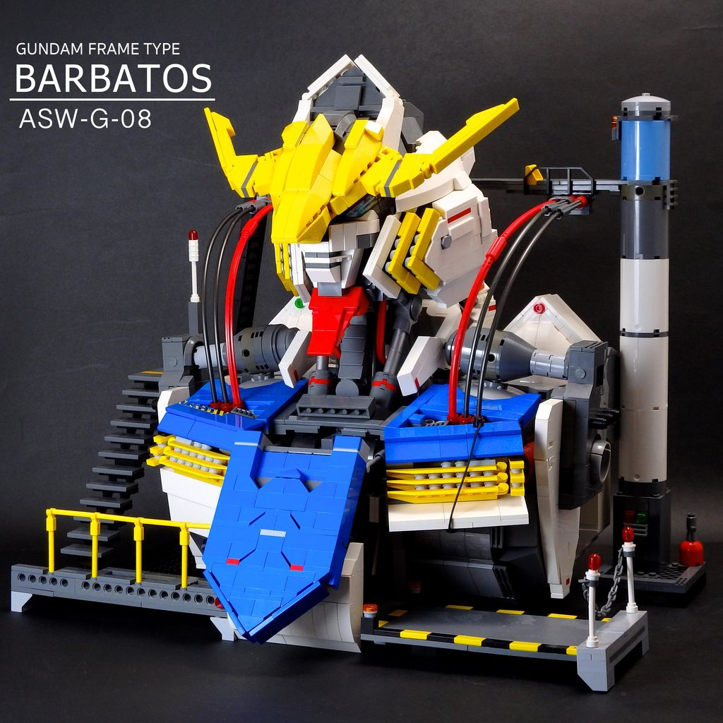 Jan_utyo's - LEGO - GUNDAM BARBATOS scratch-build Bust: FULL REVIEW No.14 Big Size Images